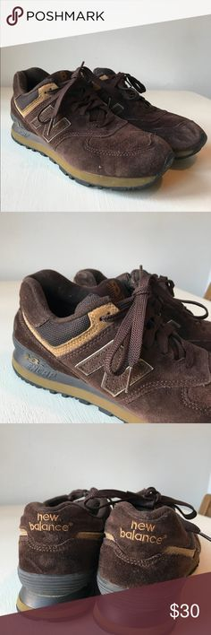 54e5be50969 New Balance Brown Tennis Shoes sz 9 In prett good used condition