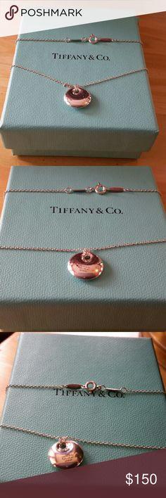 "Tiffany & Co. Elsa Peretti Round Pendant Tiffany & Co. Elsa Peretti Round Pendant Necklace 16"" Tiffany & Co. Jewelry Necklaces"