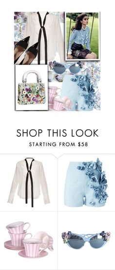 """Blue Flower"" by ashleigh-lauren ❤ liked on Polyvore featuring Disney, Chloé, Ermanno Scervino and Dolce&Gabbana"