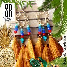 Tropicales! Estos bellos pendientes de la firma SR ABALORIOS Y PIEDRAS