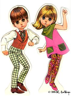 "The Mod paper dolls!  I HAVE these still and put them in a frame on the wall in Trinity's guest room.  LOVED these ""Mods"" and wanted to look just like the girl!"