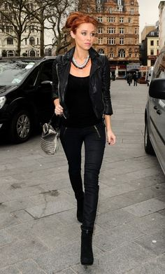Una Foden all black outfit