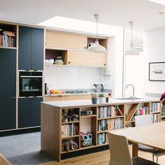 Plywood Kitchens - Bespoke kitchen solutions from Wood & Wire UK Plywood Kitchen, Oak Plywood, Plywood Floors, Kitchen Wood, Kitchen Interior, New Kitchen, Plywood Interior, Contemporary Kitchen Design, Piece A Vivre