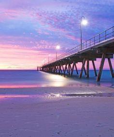 Mystical Sunset at Glenelg by Saravanan Ravichandran on Living In Adelaide, Adelaide South Australia, Australia Travel, Mother Earth, Beautiful Beaches, Surfing, Ocean, Sunset, Landscape