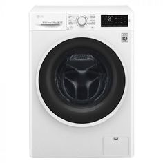 This LG washer dryer has a capacity, A energy rating, 6 Motion Direct Drive technology for a thorough clean and efficient Eco Hybrid™ tech. Laundry Appliances, White Appliances, Tapis Anti Vibration, Lave Linge Lg, White Washing Machines, Lg Washer And Dryer, Wow Deals, Kitchen Electronics, Appliance Packages
