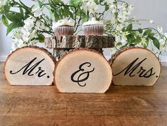 Excited to share the latest addition to my #etsy shop: Mr and Mrs sign|Wedding Signs|Wood Signs|Wood Slice Mr and Mrs Sign| Rustic Wedding|Barn Wedding|Country Wedding|Wedding Table Decor|
