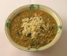 La cocina de siempre: Potaje de judías mungo (soja verde) con arroz