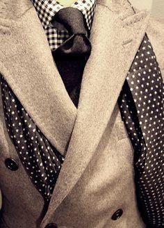 Black and white checks and polka dots.