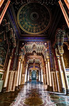 An abandoned Castle - Castello di Sammezzano, , province of Florence , Tuscany, Italy