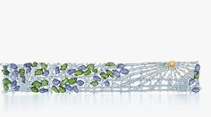 Rays of morning sun illuminate a tapestry of hand-carved tanzanites and tsavorites in this bracelet from Tiffany's 2013 Blue Book Collection...
