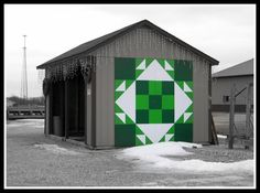 Ohio barn quilt at a produce farm
