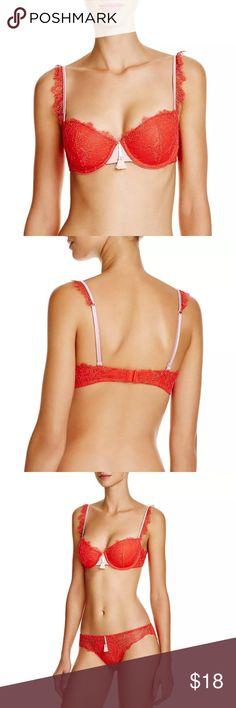 NWT Heidi Klum intimates red bra 32dd New with tags red lace balcony bra 32dd. Retails for $68 Heidi Klum Intimates Intimates & Sleepwear Bras