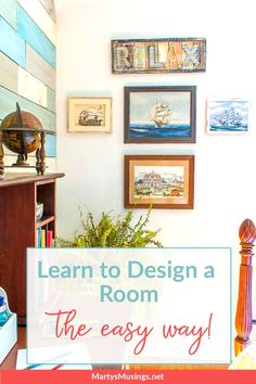 Learn how to design a room by choosing an inspiration piece and using texture, colors and theme as the starting place for an entire room makeover. #martysmusings Home Projects, Room, Diy, Inspiration, Design, Biblical Inspiration, Bricolage, Home Improvement Projects, Rooms