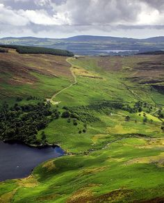 Travel to Ireland, and visit the gorgeous Wicklow mountains.