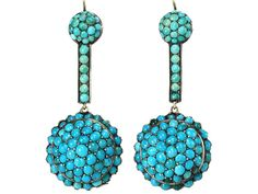 "Amazing color.  ""Victorian Verve in a Turquoise  Earring"""