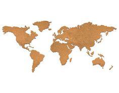 // Corkboard World Map
