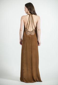 Vestido largo espalda descubierta | Sayan