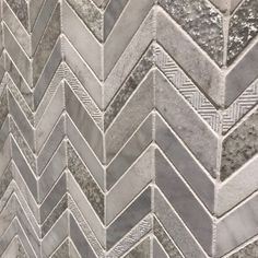 Grey chevron marble mosaic tiles