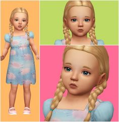 Aveira Sims 4: Lilly toddler model • Sims 4 Downloads