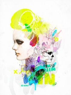 by Raphael Vicenzi Digital Art, Illustration People Illustration, Love Illustration, Art Journal Inspiration, Art Inspo, Design Inspiration, Portraits, A Level Art, Illustrations And Posters, Fashion Illustrations