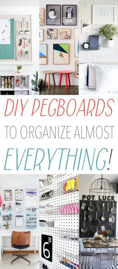 DIY Pegboards To Organize Almost Everything!  See how a simple pegboard can change your life!  Make your life EASIER and Organized!  So simple...so budget friend and fun!