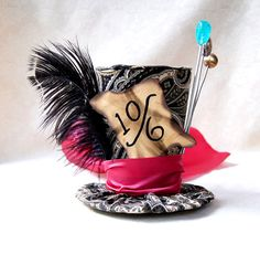 Tiny Top Hat: Classic Mad Hatter - The Mad Hatter Tea Party Alice in Wonderland Through the Looking Glass unbirthday Costume Cosplay party on Etsy, $35.00