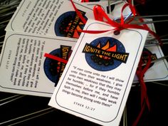 Ignite the Light  Handout and Logo by freshairedesigns on Etsy, $2.00