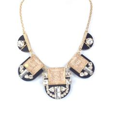 Kate Spade 'Imperial Tile' Collar Necklace, Multi ($165) ❤ liked on Polyvore featuring jewelry, necklaces, bib statement necklace, statement necklace, collar necklace, collar jewelry and statement collar necklace