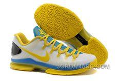 Nike Kd 5 Low Elite White Tour YellowPhoto Blue 585386100 TopDeals