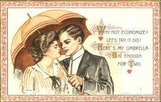 Couple Under an Umbrella Couples