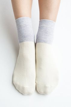 Women New Must Have Hezwagarcia Ivory Pastel Blue Color Block Cotton Candy Ice Cream Ankle Socks