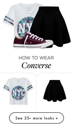 """Read the Description for an Easy Challenge!"" by rainbowsnowcone on Polyvore featuring Aéropostale, Converse, women's clothing, women, female, woman, misses and juniors"