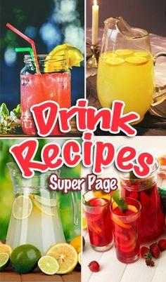 This super page contains lots of Drink Recipes. They are Frugal and Easy to Make