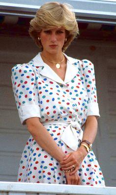 July 24, 1983: Princess Diana watching Prince Charles play polo at Great Park, Windsor.