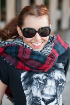 Look do Dia - Cachecol Tartan & Xadrez da Zara   Miss Street Chic