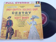 Destry rides again - 1959 original cast album vinyl record - Andy Griffith collectible by VinylRocket #TrendingEtsy
