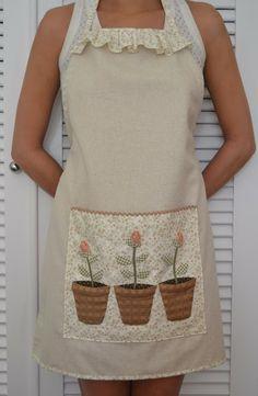 Momentos de Costura: Delantal con bolsillos macetas