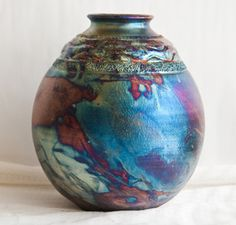 Raku Vases for Sale | Local artist Bill Capshaw has donated a ceramic Raku vase for an ...