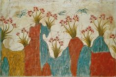 """""""Lilies"""", part of a wall-painting from Thera, Greece, c.1650 B.C. (copy)"""