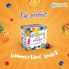 If you've got 3 hours and a freezer, you've got yourself the perfectly natural ice pop #frulicious #IcePops #NonGMO