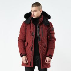 9f646a3ef64 New Warm Winter Outwear. Mens Winter CoatHooded Winter CoatWinter  JacketsHooded ParkaMens Down JacketJacket ...
