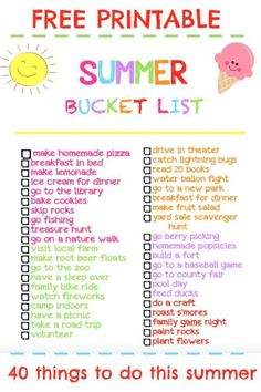 Summer time is finally here! Isn't summer break just the best? We have so many fun things planned. Check out our free summer bucket list printable. Water Ballon Fight, Types Of Basil, Plants That Repel Bugs, Weed Killer Homemade, Outdoor Chalkboard, Summer Fun, Free Summer, Summer Time, Summer Ideas
