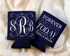 Personalized Wedding Favors Custom Wedding Monogram Forever Begins Today Customized Wedding Shower Gifts Monogrammed Wedding Favor 1275 by SipHipHooray