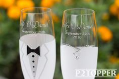 Novia y novio champán gafas boda boda Champagne flautas