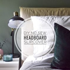 DIY No Sew Headboard Slipcover – The Adored Abode slipcoveredheadboard Linen Headboard, Pet Sofa Cover, Joinery Design, Slipcovered Headboard, Upholstered Furniture, Diy Headboard Upholstered, Diy Bed Frame, Upcycle Fabric, Diy King Headboard