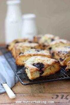Blueberry and Lemon Buttermilk Scones | Butter Baking