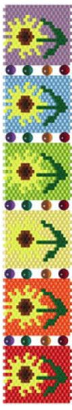 Sunflowers Bracelet Pattern at Sova-Enterprises.com. Lots of free beading patterns and tutorials on this site!