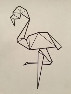 flamingo tattoo minimal geometric - Cerca con Google