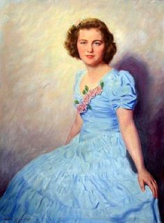 Young Lady In A Baby Blue Dress