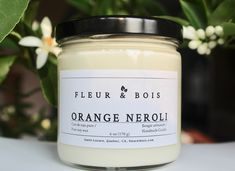 Check out our Orange Neroli candle that smells amazing! Fill your home with the succulent fragrance of neroli flowers. Visit fleuretbois.etsy.com Kitchen Candles, Soy Candles, Oil Mix, Handmade Candles, Glass Containers, Pure Essential Oils, Burning Candle, Artisanal, Orange